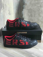 Sneakers Men's Converse One Star Leather Black Red Low Top