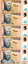 LOT Nigeria, 5 x 5 naira, 2019, P-38-New, POLYMER, UNC