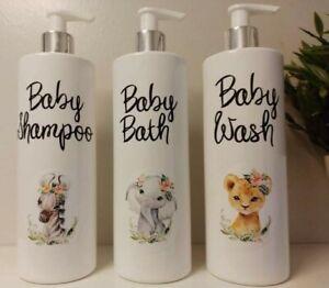 Mrs Hinch inspired baby Bathroom Pump Bottles 500ml Shampoo bath and Wash