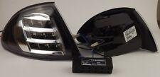 Frontblinker Set LED 3er BMW E46 (Limo, 98-01) Klarglas, schwarz/chrom Blinker