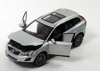 VOLVO XC60 1:24 Scale Metal Diecast Toy Car Model Miniature XC 60 Silver