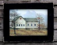 Primitive Country Rustic Barn Framed Print Cabin Decor #3