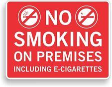"""9"""" x 12"""" No Smoking Aluminum Sign"""