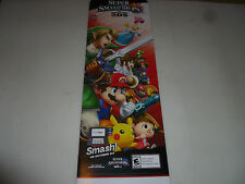 SUPER SMASH BROS 3DS 2DS LARGE STORE DISPLAY GAME SIGN ZELDA MARIO KIRBY YOSHI >