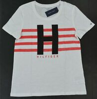 NWT Tommy Hilfiger Women's Tee (T) Shirt/Blouse Relax Fit Short-Sleeve White