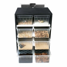 Acrylic Pet Feeding Box Reptile Breeding Tank Insect Spider Turtle Cage 8 Grids