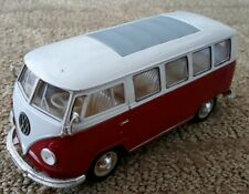 WELLY  #2095 1962 Volkswagen Microbus 1:24 Diecast red white