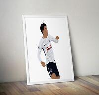 Son Heung-min, Tottenham Hotspur, Print, Poster, wall art, gift, home decor