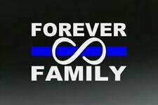 FOREVER FAMILY INFINITY DECAL - THIN BLUE LINE LAW ENFORCEMENT - FREE SHIPPING