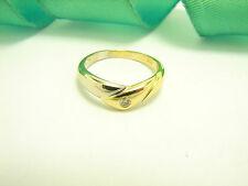 Ringe mit P1 Reinheit solitäre Echtschmuck aus mehrfarbigem Gold