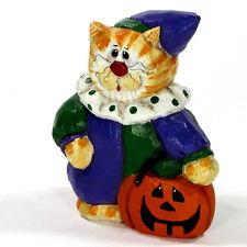 "Midwest of Cannon Falls Clown Cat 4"" Figurine Halloween Trick Treat Eddie Walker"