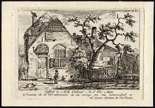 2 Antique Master Prints-LANDSCAPE-FARM-Schouten-de Man-1815