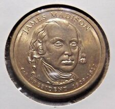 James Madison 2007D Gold Dollar Type 2 Clad Coin 4th President Denver 366
