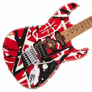 EVH Striped Series Frankie Red/White/Black Relic Electric Guitar