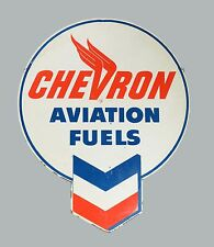 Chevron Aviation Fules Gas High Quality Rectangle Metal Magnet 3 x 4 inches 9416