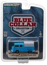 1:64 GreenLight *BLUE COLLAR R2*  Blue VW Volkswagen T2 Doka Double Cab NIP!