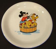 Vintage Walt Disney Productions Plate Angry Micky Bathing Pluto Dog Wash Pontesa