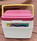 Vintage Coleman Personal 8 Cooler 5272 90s Flip Lid Pink Retro Graphics