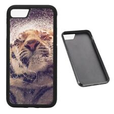 Wet tiger RUBBER phone case Fits iPhone