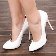 Stiletto Zapatos de Salón de Tacón 12CM Color Blanco Novia
