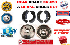 FOR FORD PUMA STREET KA 1.4 1.6 1.7 1997-2008 REAR BRAKE DRUMS + BRAKE SHOES SET