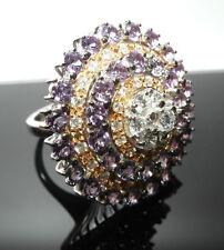 Reinheit VS Echtschmuck-Ringe aus mehrfarbigem Gold für Damen
