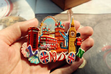Landmarks in London, United Kingdom Tourist Travel Souvenir 3D Fridge Magnet