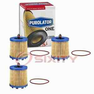 3 pc PurolatorONE PL15436 Engine Oil Filters for Oil Change Lubricant ym