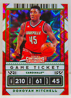 Donovan Mitchell 2020 Contenders Draft Picks Green Explosion Game Ticket Card 43
