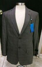 Haggar Straight Fit No Iron Men's Blazer Jacket Brown  Size 40 R - NEW $200