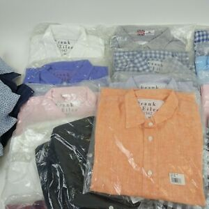 FRANK & EILEEN Wholesale Lot of 40 Mens XS & XXS Button Down Shirts All NEW