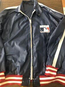 1983 MLB Major League Baseball Vinyl Nolan Ryan Blue Rain Coat Jacket ~ Large
