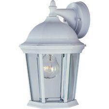Maxim Builder Cast 1-Light Outdoor Wall Lantern White - 1024WT