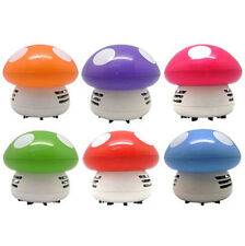 Cute Mini Mushroom Corner Desk Table Dust Vacuum Cleaner Sweeper