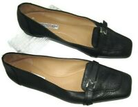 Bruno Magli Hand Made in Italy Black Leather Womens 38 ~US 7.5 Comfort Shoe Flat