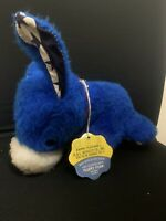 Vintage Animal Playland Blue Democratic Donkey Stuffed Animal Tag Attached
