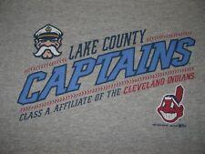 Lake County Captains Cleveland Indians Minor League Baseball Shirt Youth Medium