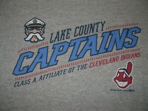 Lake County Captains Cleveland Indians Minor League Baseball Shirt Youth Medium