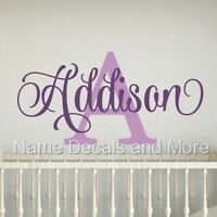 Girls Personalized Name Vinyl Wall Decal Sticker Decor Kids Bedroom Nursery