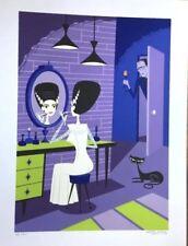 "SHAG Josh Agle ""Bride of Frankenstein"" Universal Monsters Serigraph Art Print"