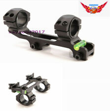 """Quick Release 1"""" to 30mm Ring&Bubble Level 20MM Picatinny Rail rifle Scope Mount"""