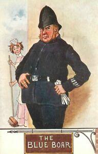 Artist impression Comic Humor 1930s Police Constable UK Postcard Howe 21-1834