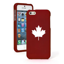 For Apple iPhone 4 4S 5 5S 5c 6 6s Plus Rubber Hard Case Cover Maple Leaf Canada