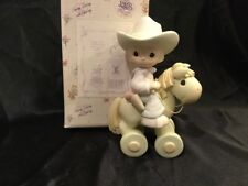 Precious Moments Cowboy On Hobby Horse 1998 Member's Only PM981 Happy Trails