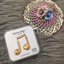 HAPPY PLUGS 7821 HEADPHONES MIC & REMOTE DELUXE EDITION GOLD Earbud Plus NIP