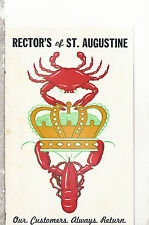 Rector's  Restaurant  St. Augustine   Florida   Chrome Postcard 1317