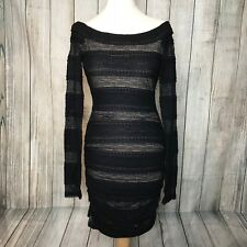 Fabulous Black Lacy BCBG MAXAZRIA Designer Halle Dress Size S (10) VGC