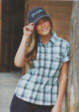 Cotton Check Button Down Shirt Tops & Blouses for Women