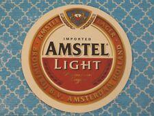 Beer Bar Coaster: Amstel Bavarian Brewery ~1870  Amsterdam~ Amstel Light Premium