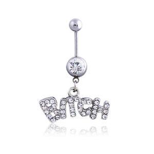 Stylish Navel Belly Ring Rhinestone Button Bar Barbell Body Piercing Jewelry